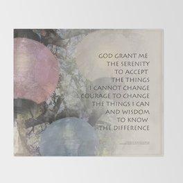 Serenity Prayer Tree and Lanterns Throw Blanket