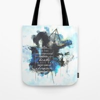 dumbledore Tote Bags featuring Dumbledore by Rose's Creation