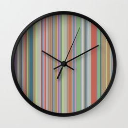 Geometric No. 27 earth stripes Wall Clock