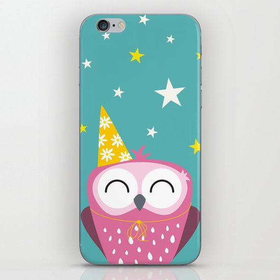 Party Owl iPhone & iPod Skin