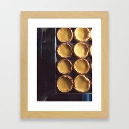 egg tart Framed Art Print