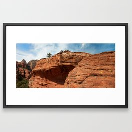 Hikers In Boynton Canyon, Sedona Framed Art Print