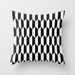 Black Quadrilateral - Baby Stimulation Pattern Throw Pillow