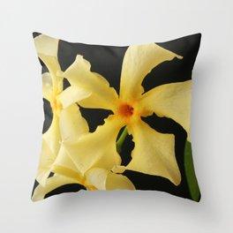 Star Jasmine Flower Throw Pillow