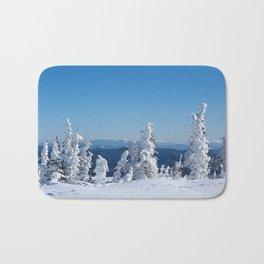 Snow pines Bath Mat