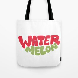 Watermelon Typography Tote Bag