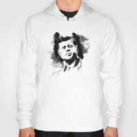 jfk Hoodies featuring John F. Kennedy JFK by viva la revolucion