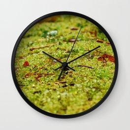 micro mossy world Wall Clock