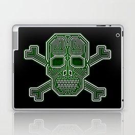Hacker Skull Crossbones (isolated version) Laptop & iPad Skin