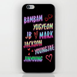 Got7 name iPhone Skin