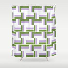 Genderqueer Pride Parquet Pattern Shower Curtain