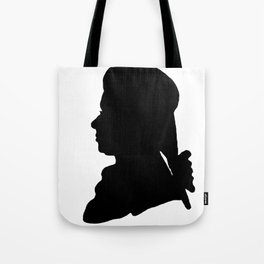 Wolfgang Amadeus Mozart (1756 -1791) silhouette, engraved by Hieronymous Löschenkohl, 1785 Tote Bag