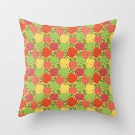 Autumn Apple Bushel Throw Pillow