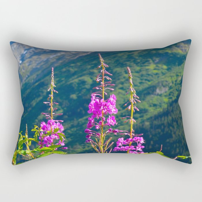 Fireweed ~ Mid-Summer Rectangular Pillow