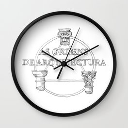 architecture orders Wall Clock