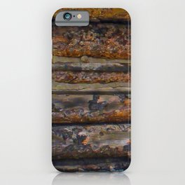 Aged Log Cabin rustic decor iPhone Case