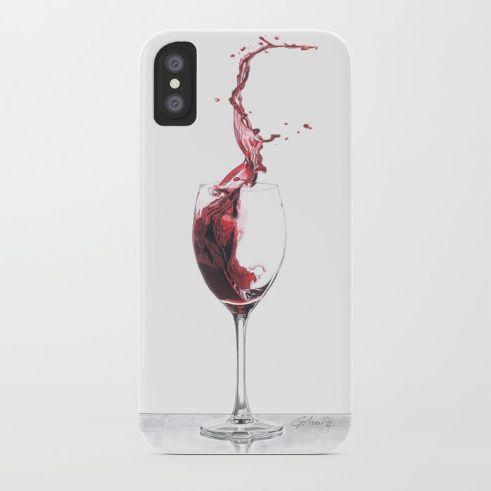 save off da9f9 cb7b6 Red Wine iPhone Case by giorgioarcuri