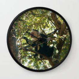 Capuchin Contemplation Wall Clock