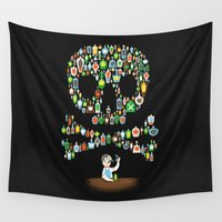 whiskey Wall Tapestries featuring What's your poison? by aWharton