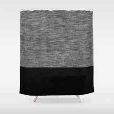 Athletic Grey and Black Shower Curtain