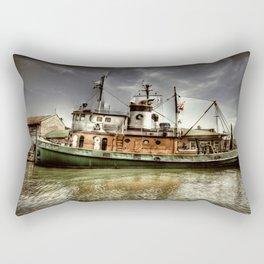 Boat on The River Rectangular Pillow