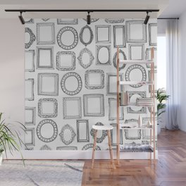 picture frames mono Wall Mural
