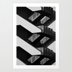 STAIRS. Art Print