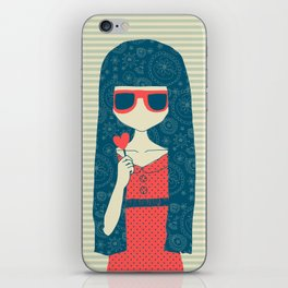 Lollipop girl iPhone Skin