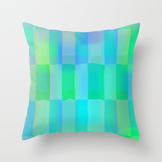 Aqua Pattern Throw Pillow
