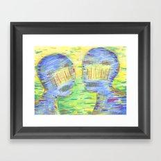 Blue Couple Framed Art Print