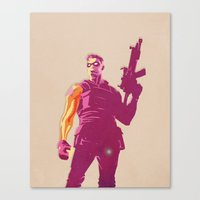 the winter soldier Canvas Prints featuring Winter Soldier by Simon Alenius