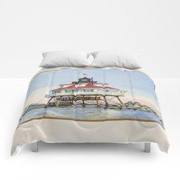 Thomas Point Light Comforters