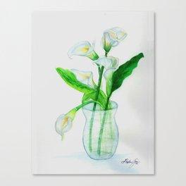 White Calla Lilies Canvas Print