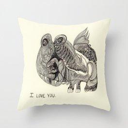 Love Monster Throw Pillow