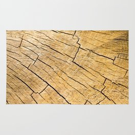 Cut Wood Trunk and Grain pattern Rug