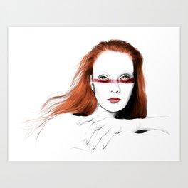 Love Girls - Blood redhead Art Print