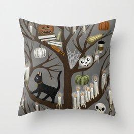 halloween tree Throw Pillow