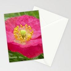 pink poppy XI Stationery Cards