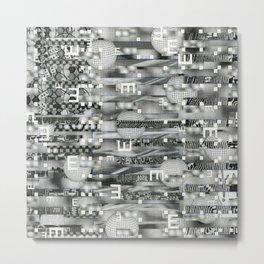 Atomic Bokeh (P/D3 Glitch Collage Studies) Metal Print