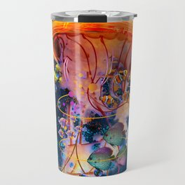 Electric Jellyish World Travel Mug