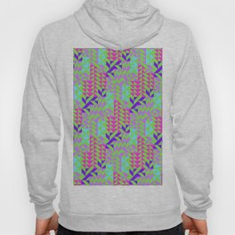 Geometrical pink lilac teal green abstract triangles Hoody