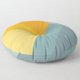 Abstract Mountain Sunrise Floor Pillow