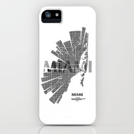 Miami Map iPhone Case