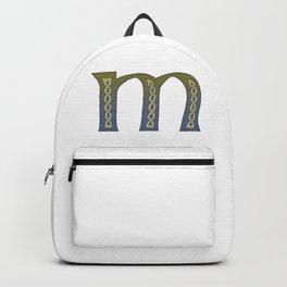Celtic Knotwork Alphabet - Letter M Backpack