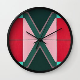 August - mirror color Wall Clock