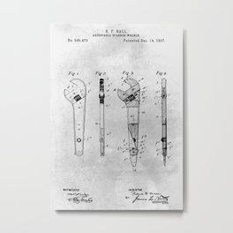 Adjustable Wrench Metal Print