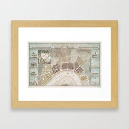 Vintage Map of New Orleans Louisiana (1817) Framed Art Print