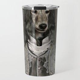 Afghan hound wearing a Louis XIV suit Travel Mug