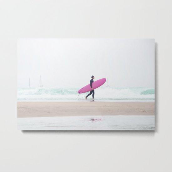 surfing beach vibes Metal Print