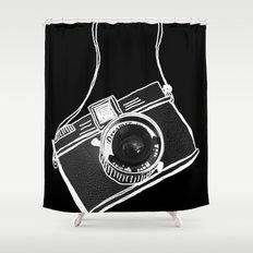 Noir Lomo Love Shower Curtain